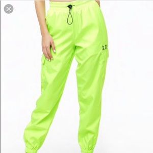 Forever 21 Neon Green Joggers
